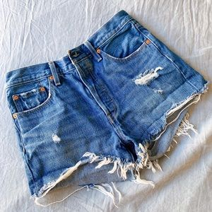 "Levi's 501 high rise shorts ""drive me crazy"""